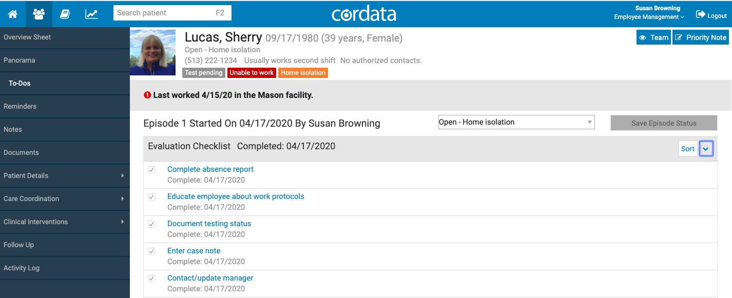 employee tracking example
